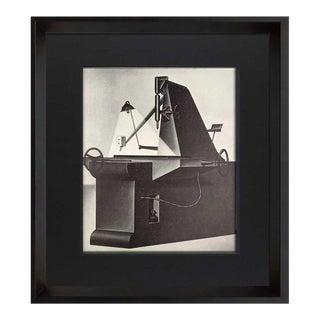 """Konrad Klapheck """"La Mére Superbe"""" Deckled and Framed Lithograph Ltd. Ed. No.12 For Sale"""