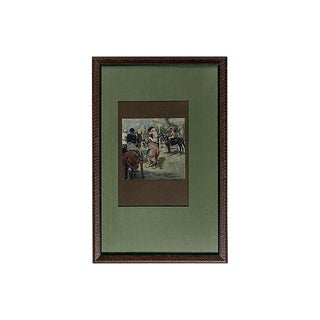 """""""Day at the Races"""" Lithograph"""