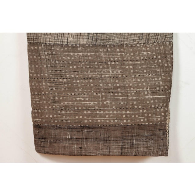 Contemporary Indian Quilted Cotton Bedcover in Grey For Sale - Image 3 of 5