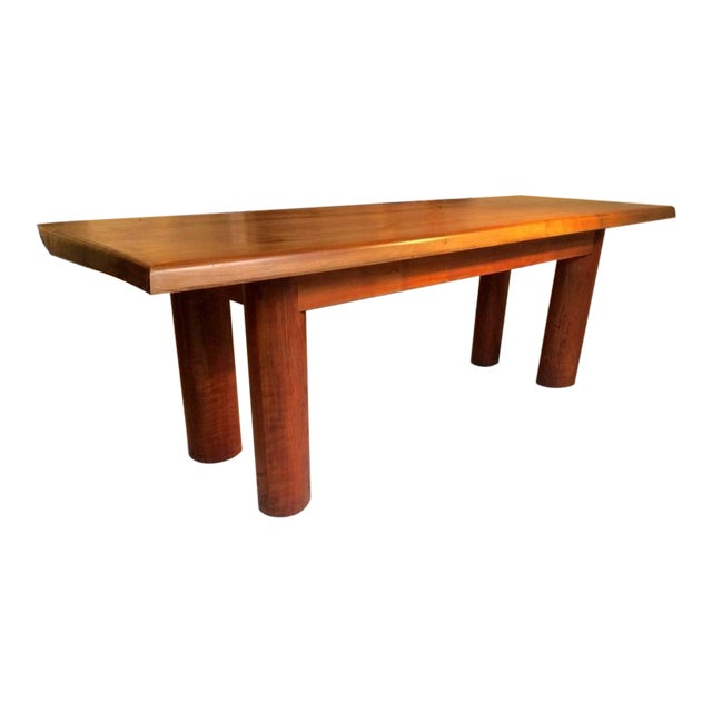 Andre Sol Solid Wood Long Table With Perriand Accent For Sale