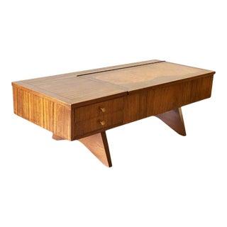 George Nakashima Walnut and Burl Inlay Coffee Table For Sale