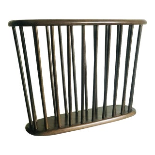 1960s Mid Century Walnut Magazine Rack For Sale
