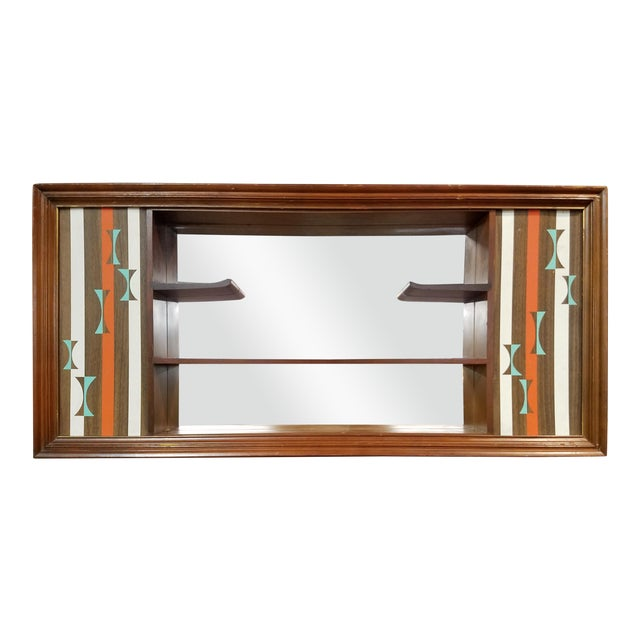 Turner Mid-Century Modern Hanging Shadowbox Shelf - Image 1 of 6