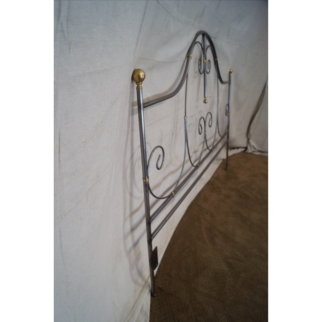 Contemporary Charleston Forge Iron King Size Headboard For Sale - Image 3 of 10