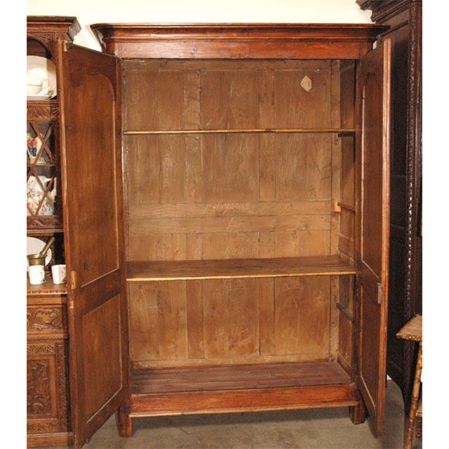 Antique Fruitwood Armoire For Sale In Los Angeles - Image 6 of 7