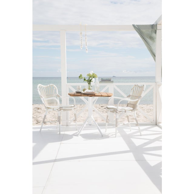 Margret Exterior Dining chair - Dove White For Sale In Minneapolis - Image 6 of 8