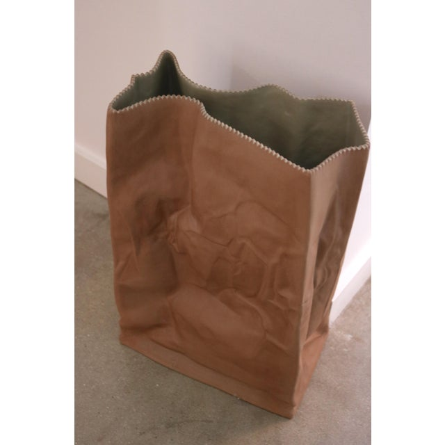 "Tapio Wirkkala ""Do Not Litter"" Paper Bag Vase For Sale - Image 5 of 5"