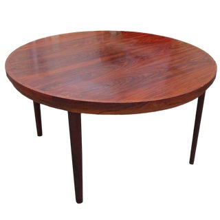 Danish Mid-Century Modern Rosewood Revolving Table For Sale