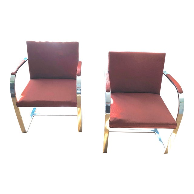 1970s Vintage Knoll Brno Flat Bar Chairs- A Pair For Sale