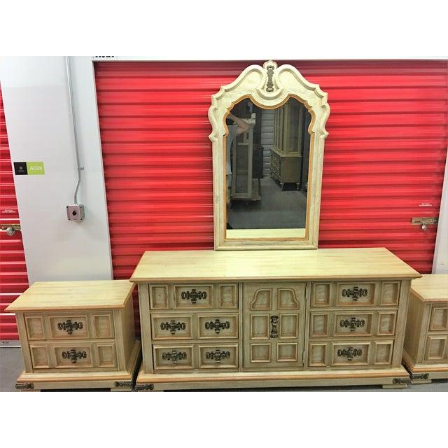 Vintage Stanley Solid Wood Dresser with Mirror - Image 9 of 10