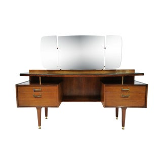 1960s Vintage Ib Kofod-Larsen for G-Plan Mid-Century Modern Vanity Dressing Table For Sale
