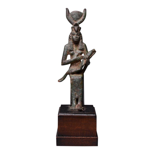 Bronze Seated Figure of Isis and Horus For Sale