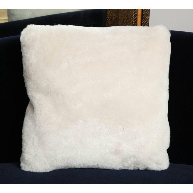 Venfield Genuine Shearling Pillow For Sale - Image 4 of 4
