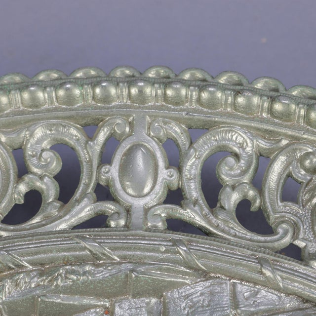 """Traditional Antique Gilt Silver High Relief Charger """"Am Brunnen"""" 'At the Fountain' For Sale - Image 3 of 7"""