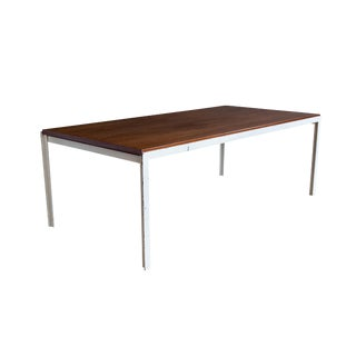 1950s Florence Knoll T Angle Walnut Coffee Table For Sale