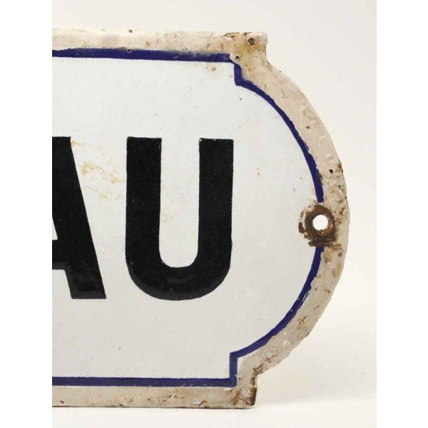 French Bureau Black & White Enamel Office Sign - Image 2 of 3