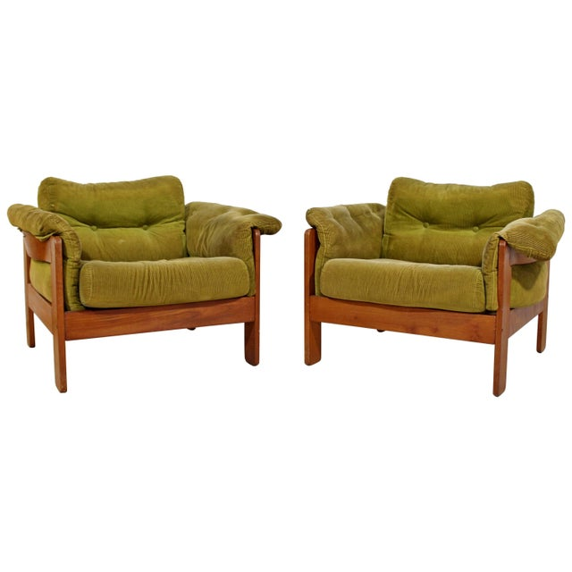 Pair of 1960s Mid-Century Modern N. Eilersen Danish Lounge Chairs For Sale - Image 12 of 12