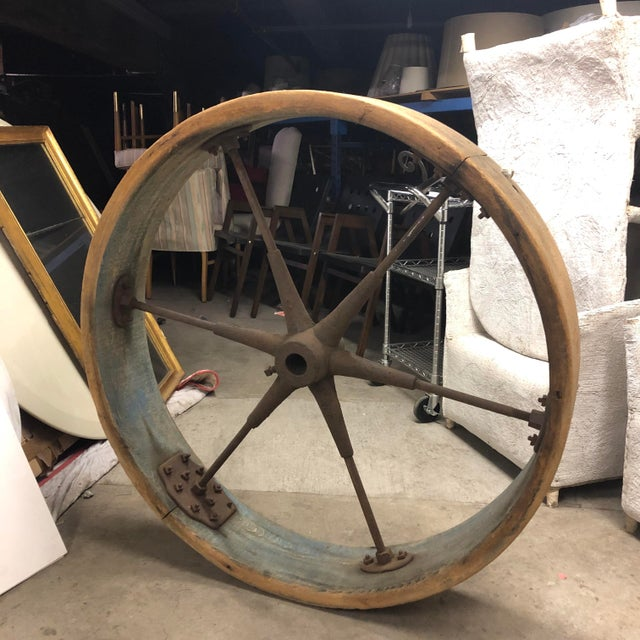Early 20th Century Early 20th Century Old Industrial Wheel For Sale - Image 5 of 6