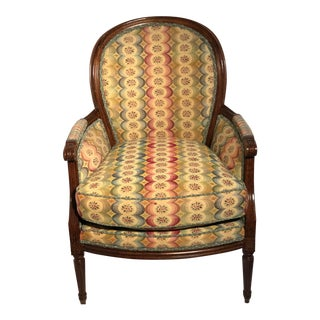 Occasional Chair Upholstered in MacKenzie-Child's Fabric For Sale