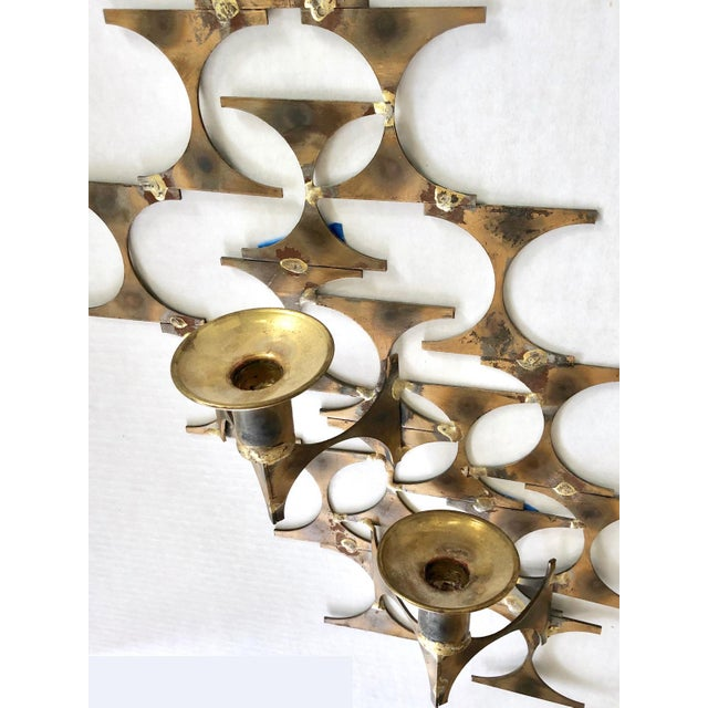 1960s Modern Wall Sconce Sculpture by Mark Weinstein For Sale - Image 5 of 12