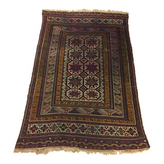 Early 20th Century Antique Handmade Turkish Rug - 5′9″ × 9′2″ For Sale
