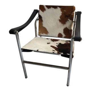 Campaign Cowhide Arm Chair