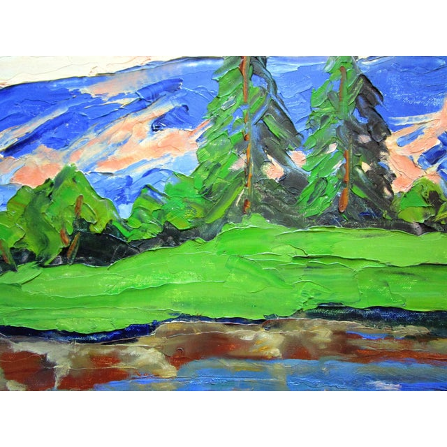 """2010s California Plein Air Landscape """"Sierra Mountain Pond"""" Painting For Sale - Image 5 of 6"""