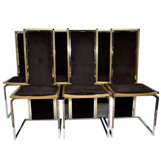 Romeo Rega Set of Six Dining Room Chairs For Sale