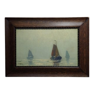 Henk Dekker - Sailboat at Sea- Beautiful Dutch Oil Painting For Sale