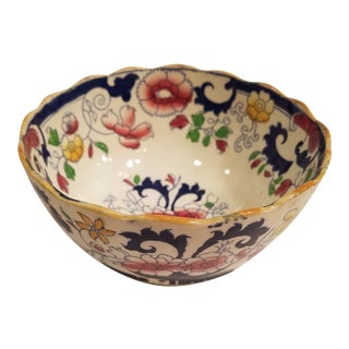 Antique Amherst Japan Stone Pottery Rice or Soup Bowl, 8. .5 Inches Across Top, For Sale