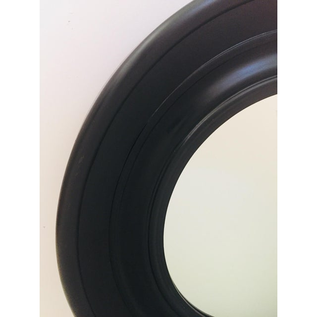 1980s Large Round Black Painted Mirror For Sale - Image 5 of 11