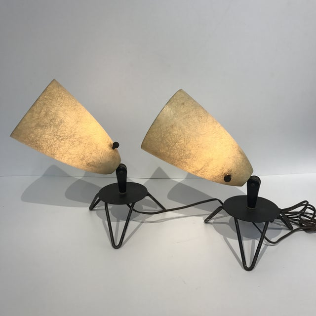 Mid-Century Fiberglass Lamps - A Pair For Sale In San Francisco - Image 6 of 6