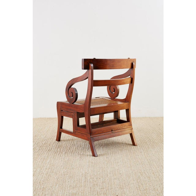 English Regency Style Mahogany Metamorphic Library Step Chair For Sale - Image 12 of 13