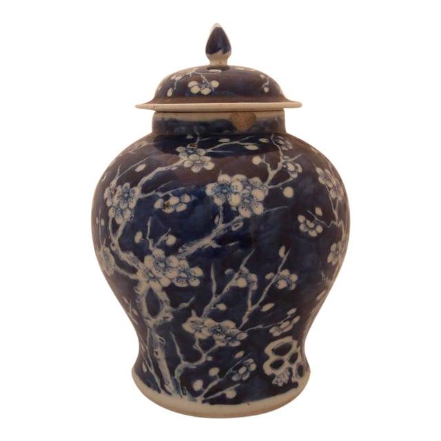 Pair of Blue Porcelain Vases For Sale