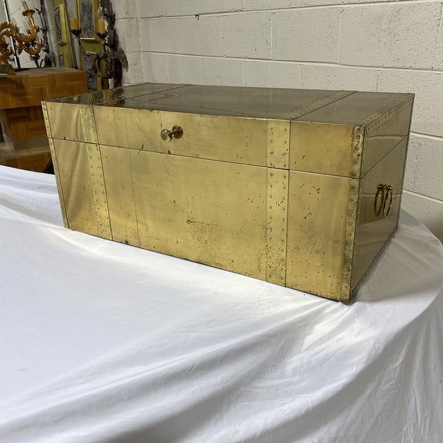 Vintage Brass Trunk For Sale - Image 13 of 13