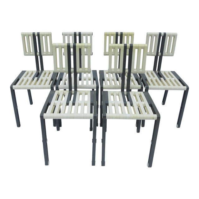 Vintage Italian Chairs - Set of 6 For Sale