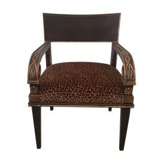 Nancy Corzine Leopard Print Chair For Sale