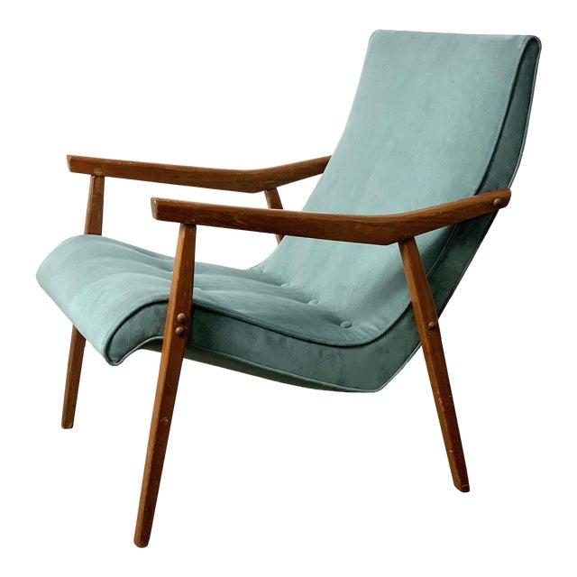 Milo Baughman for Thayer Coggin Walnut Lounge Chair, 1950's For Sale