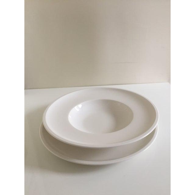 Ceramic Villeroy & Boch Artesano White Premium Porcelain Plates - A Pair For Sale - Image 7 of 7