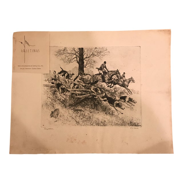 "R.H. Palenske ""Temptation"" Hunt Scene Print For Sale"