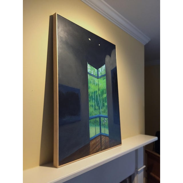 """Blue """"Upstaged"""" Contemporary Painting by Stephen Remick For Sale - Image 8 of 10"""
