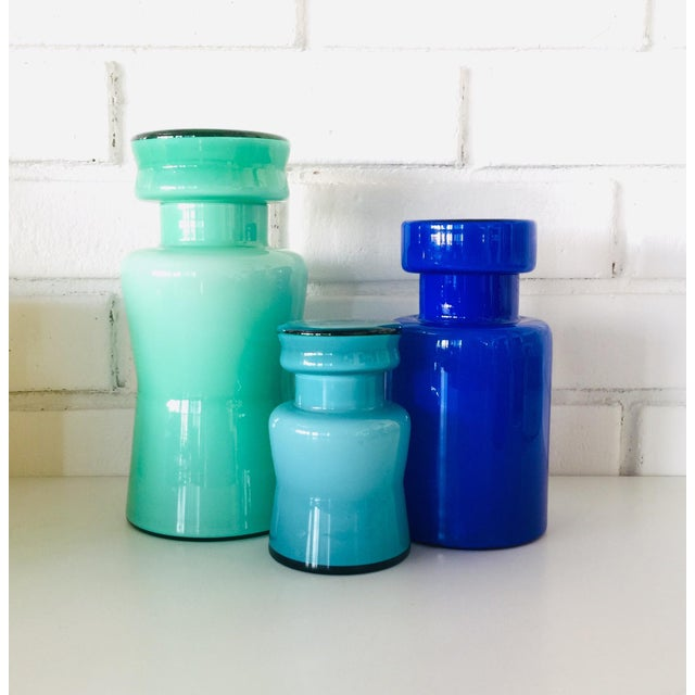 Rainbow Empoli Cased Glass Jars - Set of 7 For Sale In San Francisco - Image 6 of 11