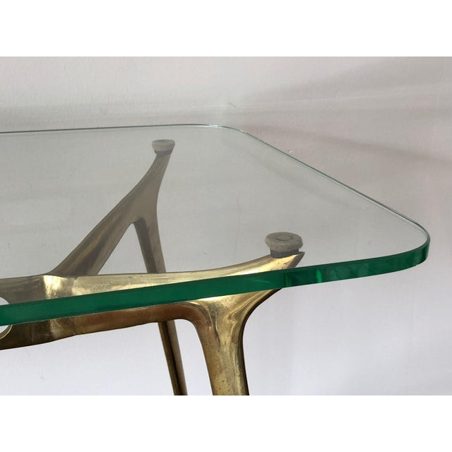 Cesare Lacca Cesare Lacca Glass Top Brass Cocktail Table For Sale - Image 4 of 11