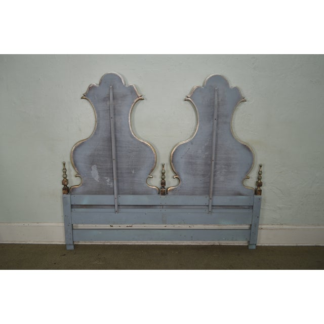 Karges Vintage High Back Paint Decorated Venetian Style King Size Headboard - Image 4 of 10