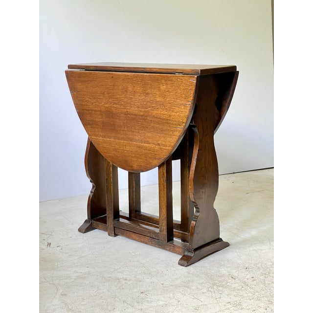 English Dropleaf Trestle Table For Sale - Image 12 of 12