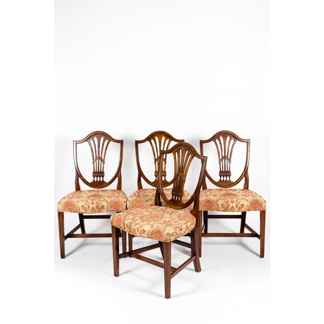 Solid Mahogany Wood Shield Back Dining Chairs - Set of 4 For Sale - Image 13 of 13
