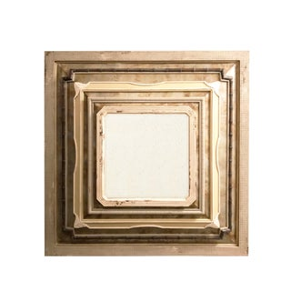 GuildMaster Aged Tin & Wood Collage Mirror For Sale