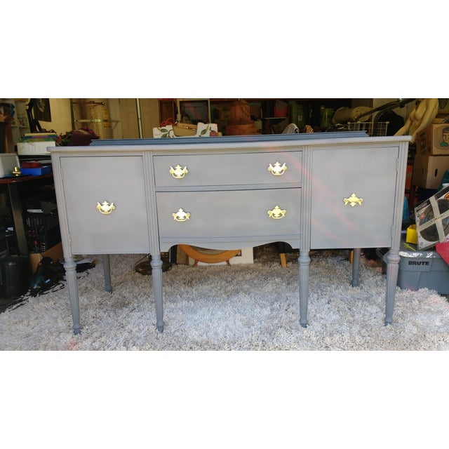 Vintage Chalk Painted Sideboard - Image 3 of 7