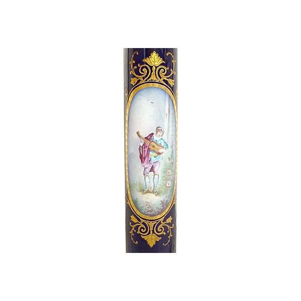 Antique Porcelain Sèvres Lamp For Sale In Atlanta - Image 6 of 9