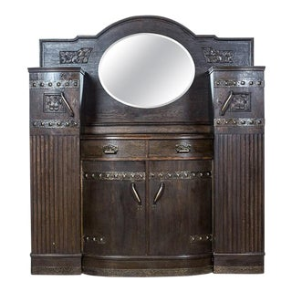 Art Nouveau Oak Cupboard, circa 1900 For Sale